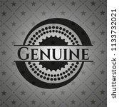 genuine realistic black emblem | Shutterstock .eps vector #1133732021