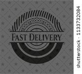 fast delivery black badge | Shutterstock .eps vector #1133732084