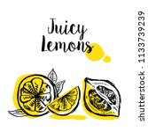 juicy lemon. vector...   Shutterstock .eps vector #1133739239