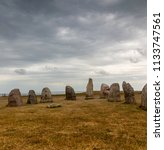 swedish ales stenar. ale's... | Shutterstock . vector #1133747561