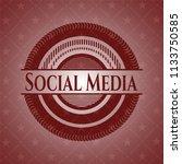 social media red emblem | Shutterstock .eps vector #1133750585
