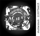 facility written on a grey...   Shutterstock .eps vector #1133756615