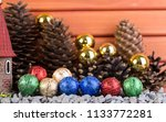 new year decorations ...   Shutterstock . vector #1133772281