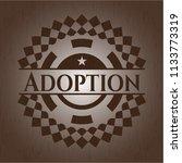 adoption retro style wood emblem | Shutterstock .eps vector #1133773319
