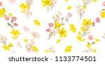 delicate flowery pattern.... | Shutterstock .eps vector #1133774501