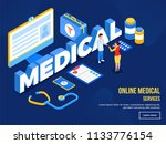 health care concept  isometric... | Shutterstock .eps vector #1133776154
