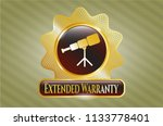 gold emblem or badge with... | Shutterstock .eps vector #1133778401