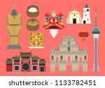 macau illustration  vector ...   Shutterstock .eps vector #1133782451