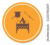 brazier  zephyr and chicken... | Shutterstock .eps vector #1133783207