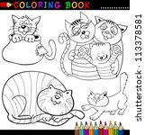 coloring book or page cartoon... | Shutterstock . vector #113378581