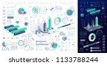 corporate infographic elements | Shutterstock .eps vector #1133788244