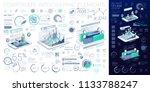 corporate infographic elements | Shutterstock .eps vector #1133788247