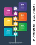 vertical timeline infographics. ... | Shutterstock .eps vector #1133798057