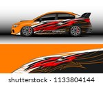 car decal graphic vector  wrap... | Shutterstock .eps vector #1133804144