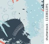 pastel blue tender brush stroke ...   Shutterstock .eps vector #1133812391