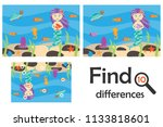 find 10 differences  game for... | Shutterstock .eps vector #1133818601