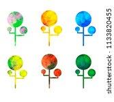 vectir abstract tree set | Shutterstock .eps vector #1133820455