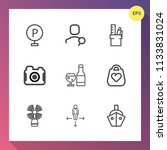 modern  simple vector icon set... | Shutterstock .eps vector #1133831024