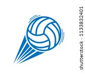 blue volleyball with moving... | Shutterstock .eps vector #1133832401
