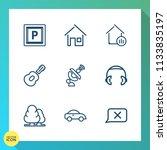 modern  simple vector icon set... | Shutterstock .eps vector #1133835197