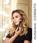 portrait of make up artist...   Shutterstock . vector #1133836715