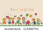 i and my family | Shutterstock .eps vector #113383741