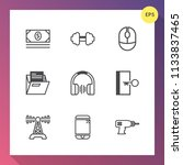 modern  simple vector icon set... | Shutterstock .eps vector #1133837465