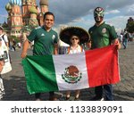 fans from mexico  who came to...   Shutterstock . vector #1133839091