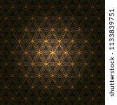 flower of life. sacred geometry ... | Shutterstock .eps vector #1133839751