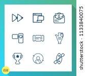 modern  simple vector icon set... | Shutterstock .eps vector #1133840075