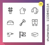 modern  simple vector icon set... | Shutterstock .eps vector #1133840114