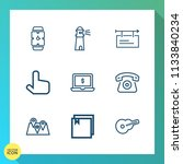 modern  simple vector icon set... | Shutterstock .eps vector #1133840234