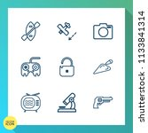 modern  simple vector icon set... | Shutterstock .eps vector #1133841314