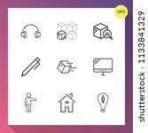 modern  simple vector icon set... | Shutterstock .eps vector #1133841329