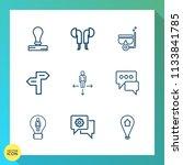 modern  simple vector icon set... | Shutterstock .eps vector #1133841785