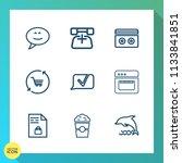 modern  simple vector icon set... | Shutterstock .eps vector #1133841851