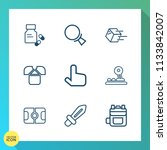 modern  simple vector icon set... | Shutterstock .eps vector #1133842007