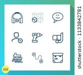 modern  simple vector icon set... | Shutterstock .eps vector #1133842781