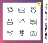 modern  simple vector icon set... | Shutterstock .eps vector #1133842817
