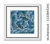 frame picture leaf blue color... | Shutterstock .eps vector #1133845241
