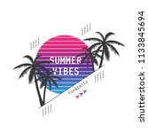 summer party poster isolated on ...