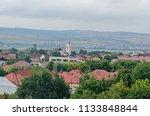 Small photo of City Alba Iulia from Romania view from Citadel fortress Alba Carolina.