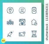 modern  simple vector icon set... | Shutterstock .eps vector #1133856311