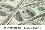 one hundred dollars and... | Shutterstock . vector #1133856647