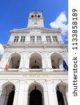 town hall of arad  romania.... | Shutterstock . vector #1133858189