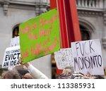 new york   sept 17  signs held... | Shutterstock . vector #113385931