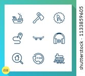 modern  simple vector icon set... | Shutterstock .eps vector #1133859605