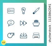 modern  simple vector icon set... | Shutterstock .eps vector #1133862041