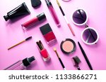 pink beautiful makeup cosmetic... | Shutterstock . vector #1133866271