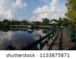 tahai lake is a small lake... | Shutterstock . vector #1133875871